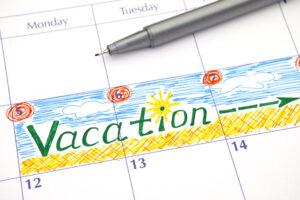 Reminder Vacation in calendar